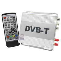 NEW In Car DVB-T Digital TV Tuner Freeview Receiver Box H.264 MPEG-4 Two Antenna
