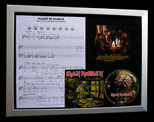 IRON MAIDEN Flight Icarus LTD TOP QUALITY CD FRAMED DISPLAY+EXPRESS GLOBAL SHIP
