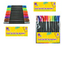 12 Double Ended Felt Tip Pens Dual Thick Thinner Adult Kids Colouring markers