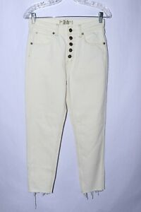 NWOT We the Free by Free People Reagan Crop Skinny Jeans Ivory size 26 #A856