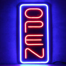 Big Vertical Neon Open Sign Light Opensign Restaurant Business Bar Bright