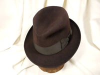 Vintage Royal Stetson Fedora Men's Hat Brown With Black Ribbon Size 7
