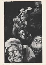 LEA GRUNDIG - HUNGER IN GHETTO II * EAST GERMAN SMALL ww2 ART PRINT 1975