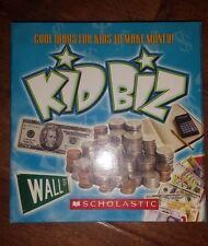 SCHOLASTIC Activity Kit BOOK Kid Biz Money Business Educational Learning Set CD