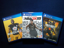 NBA2K19, Madden 19 & Call of Duty Black Ops 4