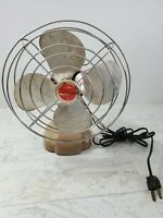 Toastmaster Vintage Fan Model 5310 Desk or Wall Electric 4 Blade Works Rusty