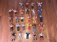 Lot of 27 Vintage LJN WWF Wrestling Action Figures 1980 Hulk Hogan/Bull Dogs