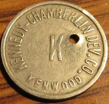 Vintage Kennedy-Chamberlin Dev Co. Kenwood Chevy Chase, MD Transit Trolley Token