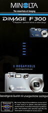Prospekt brochure Minolta Dimage F300 1 03 2003 Digitalkamera Kamera Werbung