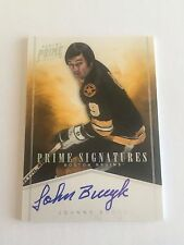 John Bucyk 2012 Panini Prime Signatures ON CARD Auto/Autograph #24/25 Bruins