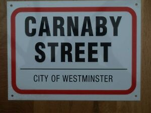 12 x 9 INCHES VINYL ROAD SIGN - CARNABY LONDON - GREAT GIFT