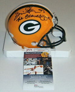PACKERS Gilbert Brown signed mini helmet w/ The Gravedigger JSA COA Autographed