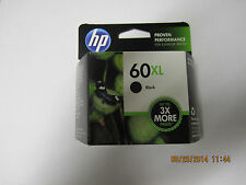 HP 60XL black ink cartridge exp OCT, 2018