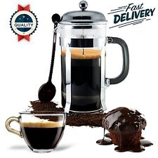French Press Coffee Maker Leaf Tea Carafe Stainless Steel Filter 34 oz Bodum Cup