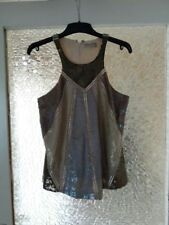 ALL SAINTS SEQUIN TOP BLOUSE  SIZE:12