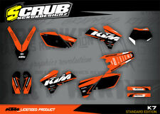 KTM graphics EXC decals kit 125 250 300 450 525 2005 2006 2007 '05 '06 '07 SCRUB