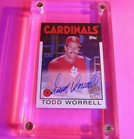 2020 Topps Archives Todd Worrell Fan Favorites On Card Auto Autograph Cardinals