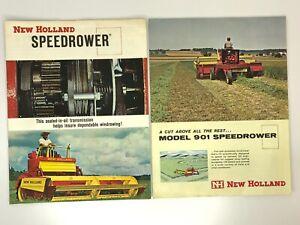 2 New Holland Folded Brochures 1964 Speedrower & 1963 Model 901 Speedrower