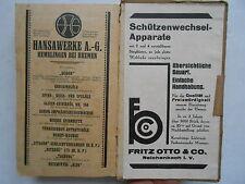 Textil - Kalender 1931 E. Möller Reichenbach Verlag Loewenthal Spinnerei Weberei