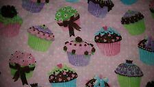 CUSTOM - CUPCAKE BAKERY BAKING GLITTER FROSTING BATH PINK HAND TOWEL SET 2