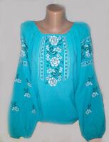 Ukrainian Embroidered Blouse women Sorochka Vyshyvanka Tradition Shirt Chiffon