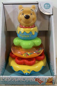 Disney Baby Winnie The Pooh Musical Stacking Rings Rattle Wobbly Base 6+ Mths 🌟