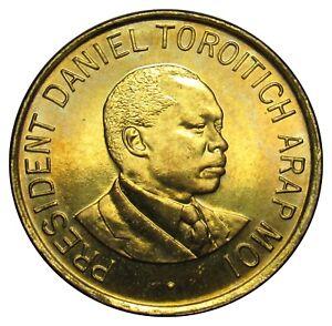 Kenya 1 Shilling coin 1998 km#29 AU-UNC