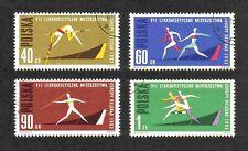 Poland 1962 7th European Athletics Championships short set of 4 values used