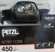 Petzl Actik Core - Aktive Stirnlampe in Black, 450 Lumen, Kopflampe, Headlight