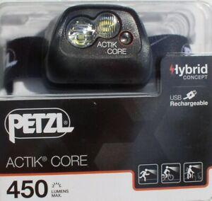 Petzl Actik Core - Aktive Stirnlampe in Black, 450 Lumen, Kopflampe, Headlight