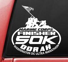 2019 or any year Marine Corps Ultra Marathon 50k 31Miles White color 6X6