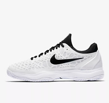 NIKE AIR ZOOM CAGE 3 HC Trainers Gym Tennis Casual - UK Size 8.5 (EUR 43) White