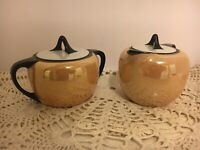 Antique R.S. Tillowitz Silesia Creamer and Sugar with Lid
