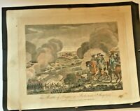 RARE 1781 Antique Color Print of The Battle of Prague in Bohemia 6th May 1757