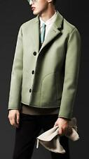 Burberry Prorsum Bonded Poplin Caban Jacket Sage Green EU50 Large RRP £1495 Coat
