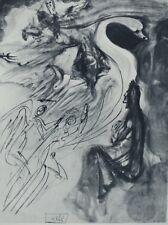 Salvador DALI : Le langage de l'oiseau - GRAVURE original signée #DIVINE COMEDIE