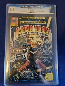 CAPTAIN VICTORY #1, CGC NM+ 9.6, 1st Mr. Mind! Kirby-s/c/a PACIFIC WHITE Pages!