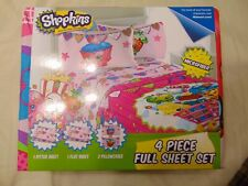 Shopkins 4 piece full sheet set.