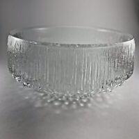 Tapio Wirkkala Iittala Finland Ultima Thule Footed Glass Serving Bowl Vintage