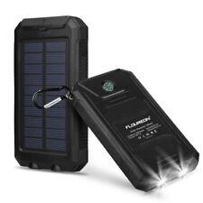 solar Power Bank 10000mAh Batería de depósito Externo 2*USB LED Cargador móvil
