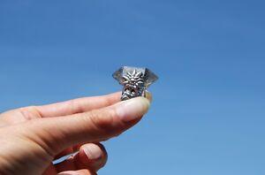 925 Silber Ring Edelweiss Bergkristall Turmalin Herkimer Wiesn Tracht Dirndl