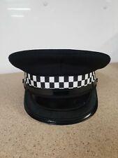 More details for genuine inspector black banded flat peaked cap collectors grade a