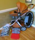 HOT+MOM+BABY+CARRIAGE+STROLLER+W%2F+BASSINET+COMBO+RAIN+COVER+NET+%26+MORE+GREAT+CON