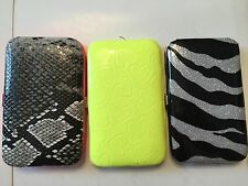 LOT OF 3! Assorted Designed Wallet-Purse-Cases For IPHONE 4/4S.