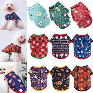 Pet Dog Cat Christmas T-Shirt Clothes Puppy Vest Pet Apparel Costume Coat Jacket