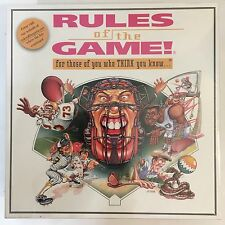NEW Rules Of The  Game! Sports Trivia Board Game 1995 Sealed