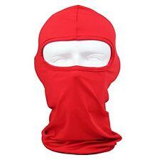 Solid Red Polyester Microfiber Balaclava Ninja Swat Face Mask Biker ATV
