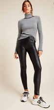 Spanx NWT Faux Leather High Zip Leggings From Anthropologie Women's Size XS