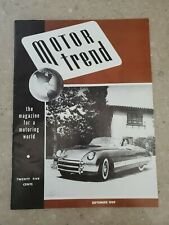 Motor Trend Magazine September 1949 - 1st Issue Vol. 1 No. 1 - Reissue?