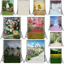 Flower Rose Garden Vinyl Photography Background Studio Photo Prop Backdrop